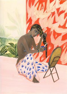Lisa Zordan - The Rooms series, 2016 Paintings Art Et Illustration, Illustrations, Painting People, Figure Painting, African American Art, A Level Art, Graphic Design Art, Figurative Art, Painting Inspiration
