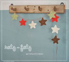 Star garland, Free pattern