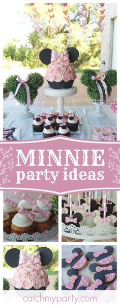 Check out this wonderful Minnie Mouse birthday party. The birthday cake is stunning!! See more party ideas and share yours at CatchMyParty.com