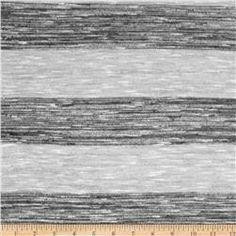 Heather Hatchi Sweater Knit Stripes Grey