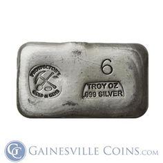 6 oz Pure Prospectors .999 Silver Bar http://www.gainesvillecoins.com/category/281/2014-silver-bullion-coins.aspx