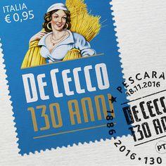 La De Cecco compie 130 anni. Nel 2016 festeggiamo il 130° anniversario della fondazione. Ricordiamo questo evento con l'emissione di un francobollo nella serie delle ''Eccellenze del sistema produttivo ed economico''. http://www.dececco.it/it_it/cms/news  We are celebrating the 130th anniversary of the foundation. A stamp celebrates this important event! http://www.dececco.it/it_it/cms/news
