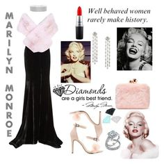 """""""marilyn monroe"""" by boom-with-red-eyes ❤ liked on Polyvore featuring Rachel Gilbert, Lilly e Violetta, Charlotte Russe, WALL, MAC Cosmetics, Sophia Webster, Diamond Supply Co. and Bling Jewelry"""