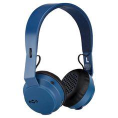 The House of Marley - Rebel BT Wireless On-Ear Headphones - Blue, EM-JH101-NV