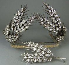 19th Century Old Mine Diamond Tiara by Divonsir Borges