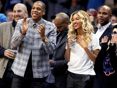 Star Tracks: Friday, November 22, 2013 | THEY'VE GOT GAME | Beyoncé and Jay-Z cheer from the front row as the Oklahoma City Thunder defeat the Los Angeles Clippers 105-91 on Thursday at Chesapeake Energy Arena in Oklahoma.