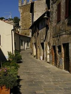 Characteristic street in Pereta Tuscany