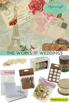 Everything you need for DIY Wedding Invites or Thank You Cards. Supplies from just £1 | The Works #Papercraft #DIYwedding
