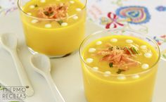 Gazpacho, Panna Cotta, Salsa, Appetizers, Soup, Pudding, Yummy Food, Snacks, Vegetables
