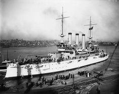 USS Ohio BB-12 Pictured at Mare Island shortly after being commissioned, 4 October 1904.