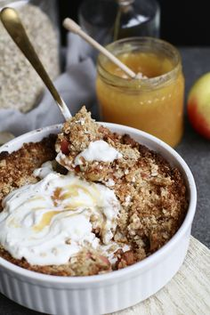 Apple cinnamon breakfast crumble + my opinion about organic food - Beaufood - Apple cinnamon breakfast crumble my opinion about organic food – Beaufood -
