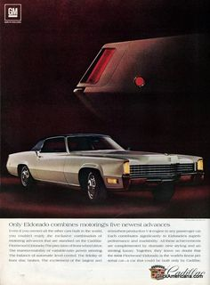 Vintage Trucks Vintage Cadillac ads - Owners of 1968 Cadillacs are so enthusiastic about the alert response and smooth, quiet operation of the new 472 engine that they often fail to mention the other outstanding features. Cadillac Ats, Cadillac Eldorado, Cadillac Fleetwood, Vintage Trucks, Vintage Ads, Vintage Cameras, Vintage Advertisements, Classic Chevy Trucks, Classic Cars