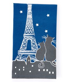 Paris la Nuit Ciel Etoilé Kitchen Towel