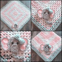 Super cute hand-made crocheted blanket! You can choose to order just the blanket, or the blanket/hat set! Choose from Newborn or Toddler size. Newborn blanket is 30 x 30, and hat fits 0-3 months. Todd