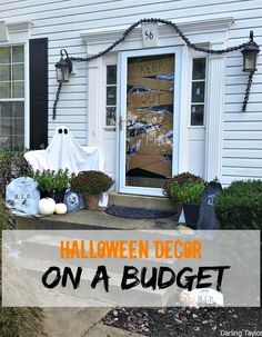 Create a SPOOKY front entryway for only $11!
