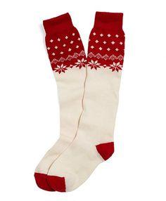#BrooksBrothers Snowflake Knee-High Socks. #love