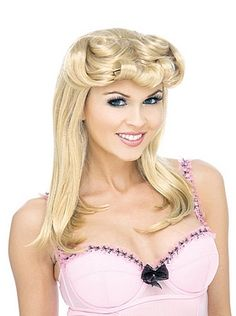 Adult Pinup Blonde Wig - - Historical Costumes > & - Accessory - Accessory > Wigs - Historical Costumes from costumehub. Costume Wigs, Costume Shop, 1950s Bridal Shower, Halloween Wigs, Blonde Wig, Historical Costume, Pin Up, Chic, 1950s Costumes