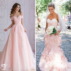 Menyasszonyi ruha rózsaszín variációban Diy Home Crafts, Prom Dresses, Wedding Dresses, Empire, Women's Fashion, My Style, Nails, Clothes, Vestidos