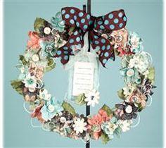 Create a wreath that fits any season! Using Cricut Flower Shoppe cartridge I just bought!