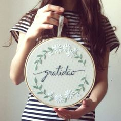 23 ideas embroidery hoop cross stitch wall art for 2019 Embroidery Monogram, Hand Embroidery Stitches, Embroidery Fashion, Embroidery Hoop Art, Hand Embroidery Designs, Cross Stitch Embroidery, Embroidery Patterns, Funny Embroidery, Bordados E Cia