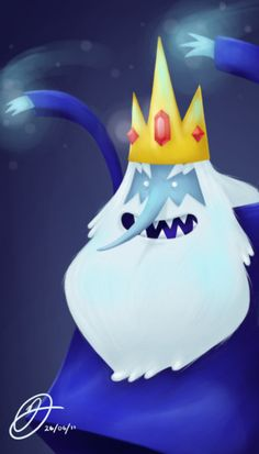 Adventure Time Challenge Day 19: I think the Ice King is the creepiest character because he's always hitting on different princesses and stuff, and he's crazy.