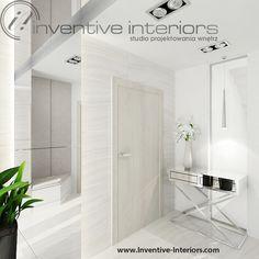 Projekt wiatrołapu Inventive Interiors - lustro na ścianie i suficie