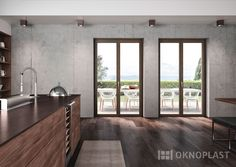 modern kitchen with Oknoplast's Windows #proluxevolution #oknoplast #windows #design #decor #home #homedecor #modern #kitchen