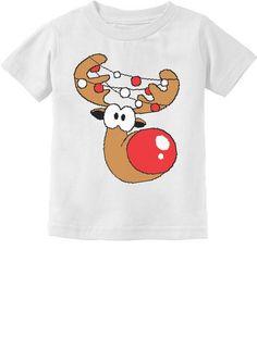 Reindeer Head Lights Cute Christmas Infant-Toddler Short Sleeve T-Shirt Chewbacca Halloween, Reindeer Head, Race Car Party, Vader Star Wars, Great T Shirts, Toddler Gifts, Old Boys, Infant Toddler, Lights
