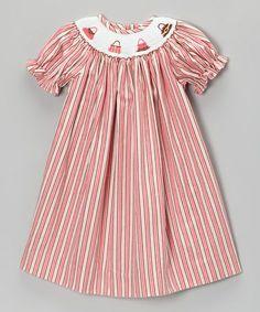 Another great find on #zulily! Pink Stripe Purse Bishop Dress - Infant & Toddler #zulilyfinds