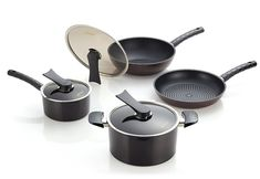 Happycall Everyday Cookware Set, 7 Pieces, Nonstick Pans and Pots, PFOA-Free, Dark Brown *** To view further for this item, visit the image link. (This is an affiliate link) #DIYHomeDecor
