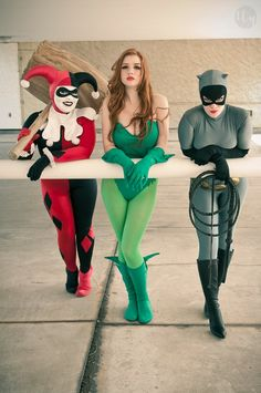 Harley Quinn, Poison Ivy, and Catwoman, Gotham Girls.