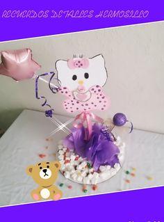 DIY Como Hacer Centro De Mesa Hello Kitty Bebé