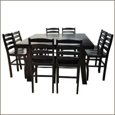 Our Kansas City Elevated Counter Height 9pc Dining Set w Ladder Back Chairs is handmade from Sheesham, a highly sought after variety of Indian Rosewood that is used by the finest furniture makers due to its strength, fine wood grain, and durability.