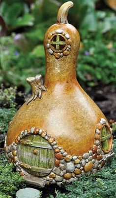 Gourd-Shaped Fairy Home - Click image to find more Gardening Pinterest pins