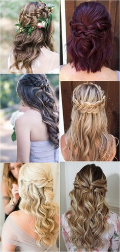 half up half down wedding hairstyles #bridalfashion #hairstyles #weddinghairstyles #weddingideas