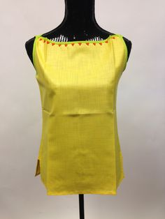 Cotton Short Top - Yellow