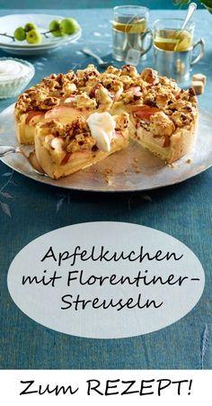 Apfelkuchen mit Florentiner-Streuseln - so gut! Hier findest du das Rezept!