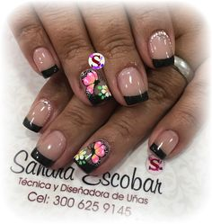 French Tip Nails, Spring Nails, Nail Colors, Nail Designs, Nail Art, Ale, Diana, Beauty, Nail Bling