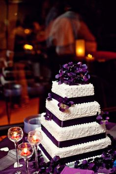 i love the deep shade of purple on the cake.