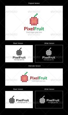 This is a nice, simple and elegant customizable logo suitable for design, food, restaurant, fruits and digital related industries.