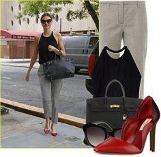 """How to Style Red Heels Miranda Kerr"" by fashion-guru678 on Polyvore"