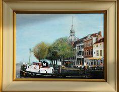 Groothoofd Dordrecht. Olieverf op linnen 40 x 30 cm.