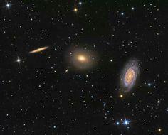 Three Galaxies in Draco