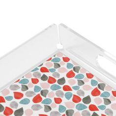 """""""Splash"""" Square Tray in Red Aqua Gray Peach - watercolor gifts style unique ideas diy"""