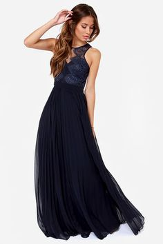 Exclusive In Your Dreams Navy Blue Maxi Dress - Maxi dresses ...