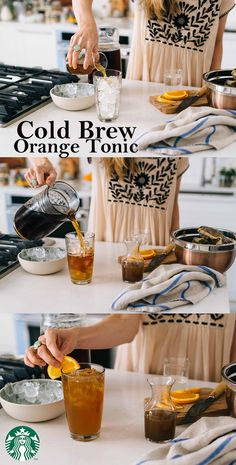 Cold Brew Orange Tonic Recipe: Fill a tall glass with ice. Pour in ½ cup tonic water. Then add ½ cup Starbucks® Cold Brew and 1 tbps Orange Cardamom Simple Syrup. Give the drink a quick stir and garnish it with a slice of orange. Enjoy! Visit 1912 Pike for the full recipe.