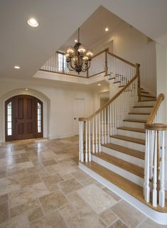There are so many options for kitchen flooring ideas, it's hard to know what's best. lezgetreal takes the guesswork out of selecting the best kitchen floors Stone Tile Flooring, Entryway Flooring, Travertine Floors, Best Flooring, Diy Flooring, Kitchen Flooring, Flooring Ideas, Staircase Remodel, Mediterranean Home Decor