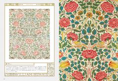"Inside page of ""William Morris: Father of Modern Design and Pattern: Textile, Book & Editorial Designs and More"" #Pattern #GraphicDesign #WilliamMorris"