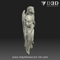 Digitalización 3d de ángel para altar. Vista derecha