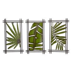 Find it at bombaycompany.com  - Palm Plaques - Set of 3